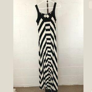 Brixon Ivy Striped Maxi Dress Black/Ivory